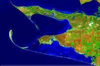 Вигляд Чорноморського біосферного заповідника з космосу (Landsat 8)