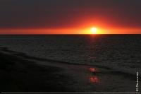 Захід сонця в Ягорлицькій затоці